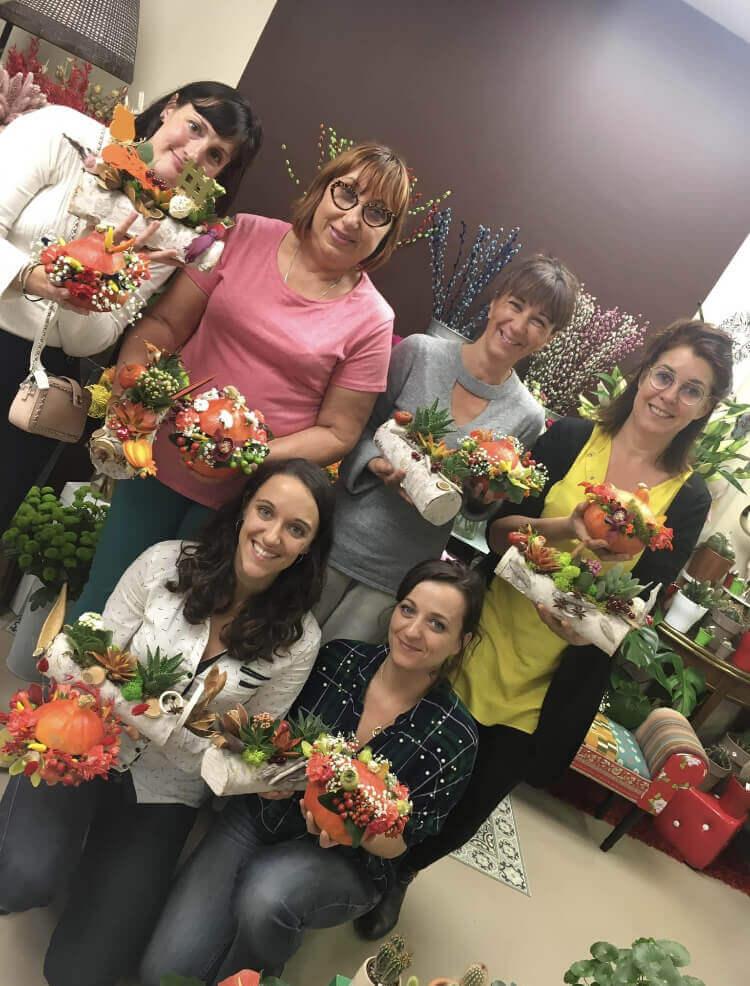 atelier cours d art floral